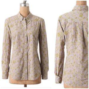 Anthropologie Odille Eyelet Button Shirt